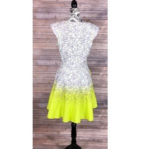 Jessica Simpson dress fit and flare neon 12 summer